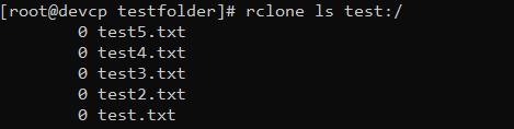 rclone command